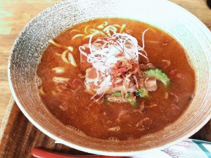海老スープの沖縄そば!